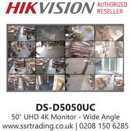 """Hikvision 50"""" Monitor Ultra HD 4K HDMI DS-D5050UC"""