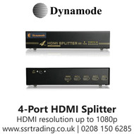 Dynamode 4-Port HD HDMI V 1.4 Splitter Box - HDMI-SP-4