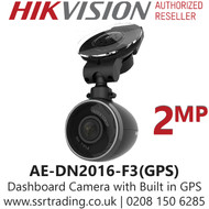 Hikvision Full HD 1080P 2MP Dashboard Camera with Built in GPS &  Comes With Remote Control-AE-DN2016-F3(GPS)