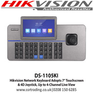 "Hikvision PTZ Controller Keyboard 7"" Touchscreen and 4D Joystick - DS-1105KI"