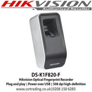 Hikvision Optical Fingerprint Recorder DS-K1F820-F