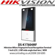 Hikvision Mifare Fingerprint Facial Recognition Terminal DS-K1T604MF