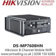 Hikvision 8 Channel 2MP Mobile 8Ch NVR with Aluminium die-cast chassis, Supports accessing via WEB browser, One CVBS video output interface - DS-MP7608HN