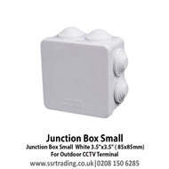 """Junction Box Small White 3.5""""x3.5"""" ( 85x85mm) - For Outdoor CCTV Terminal"""