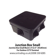 """Junction Box Small Black 3.5""""x3.5"""" ( 85x85mm) - For Outdoor CCTV Terminal"""