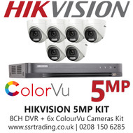 Hikvision 5MP Kit - 8CH DVR With 6x ColorVu Turret Cameras