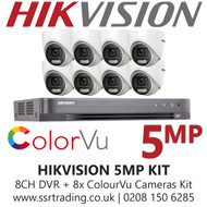 Hikvision 5MP Kit With 8CH DVR + 8x ColorVu Turret Cameras