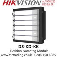 Hikvision Nametag Module - DS-KD-KK