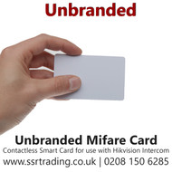 Unbranded Mifare Contactless Smart Card for use with Hikvision Intercom