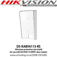 Hikvision protective rain shield for use with DS-KV6113-WPE1 door station - DS-KABV6113-RS