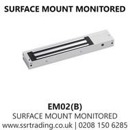 Surface Mount Monitored up to 272kg Maglock 12/24VDC  (EM02(B))