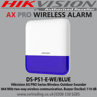 Hikvision AX PRO Series Wireless Outdoor Sounder (DS-PS1-E-WE/BLUE)