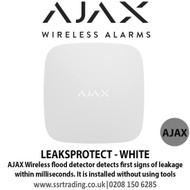 Ajax Wireless flood detector detects first signs of leakage within milliseconds - LEAKSPROTECT - WHITE