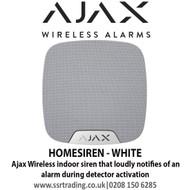 Ajax Wireless indoor siren that loudly notifies of an alarm during detector activation - HOMESIREN - WHITE