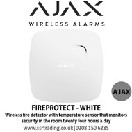 Ajax Wireless fire detector with temperature sensor - FIREPROTECT - WHITE