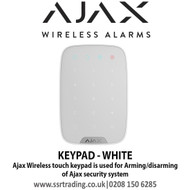 Ajax Wireless touch keypad is used for arming/disarming of Ajax security system - KEYPAD WHITE