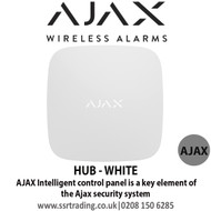 Ajax Intelligent control panel is a key element of the Ajax security system - HUB - WHITE