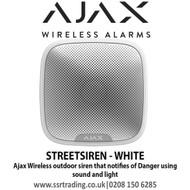 Ajax Wireless outdoor siren that notifies of danger using sound and light - STREETSIREN WHITE