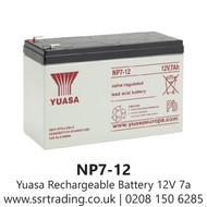 Yuasa Multipurpose 12v 7Ah Lead Acid Rechargeable Battery NP7-12