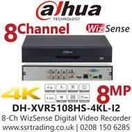 Dahua 8 Channel 8CH DVR 8MP 4K HDMI Smart AI - DH-XVR5108HS-4KL-I2