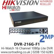 HiWatch 16 Channel 16CH 1080p 2MP DVR - DVR-116G-F1