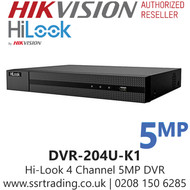 HiLook 4 Channel 4CH 5MP DVR DVR-204U-K1