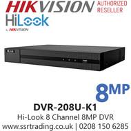 HiLook 8 Channel 8CH 8MP DVR (DVR-208U-K1 )