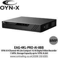 OYN-X 8 Channel 8CH 8MP 4K HDCVI Smart AI DVR