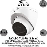 OYN-X  2MP HDCVI 2.8mm Built-in Mic AoC Turret Camera