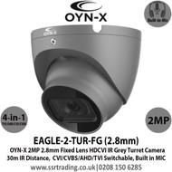 OYN-X 2MP HDCVI 2.8mm Built-in Mic AoC Turret Grey Camera