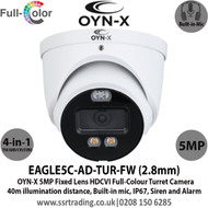 OYN-X 5MP Full-Colour Active Deterrence HDCVI 2.8mm Built-in Mic AoC Turret Camera