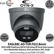 OYN-X 5MP Full-Colour Active Deterrence HDCVI 2.8mm Built-in Mic AoC Turret Grey Camera