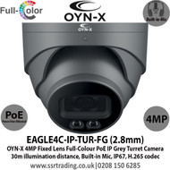 OYN-X 4MP IP PoE Turret Full-Colour 2.8mm Lens Built-in Mic Grey Camera