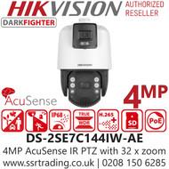 Hikvision 4MP 32 x Zoom DarkFighter AcuSense IR PoE Speed Dome PTZ Camera - DS-2SE7C144IW-AE(32X/4)(S5)
