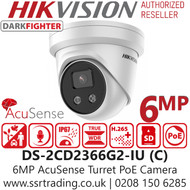 Hikvision 6MP AcuSense DarkFighter Fixed Lens Turret Network Camera - Built-in Microphone - DS-2CD2366G2-IU(2.8MM) (C )