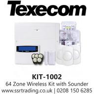 Texecom Ricochet Premier Elite 64W Wireless Alarm Kit & SmartCom - KIT-1002