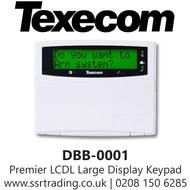 Texecom Premier LCDL Large Display Keypad - DBB-0001