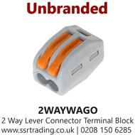 Wago Compact 2 Way Lever Connector Terminal Block - 2WAYWAGO