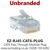 CAT6 Pass Through Modular Plug Cable Connector End (EZ-RJ45-CAT6-PLUG)