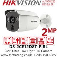 Hikvision 2MP Ultra Low Light PIR Outdoor Bullet  Analog Camera - 2.8mm Lens - 30m IR Range - DS-2CE12D8T-PIRL(2.8mm)