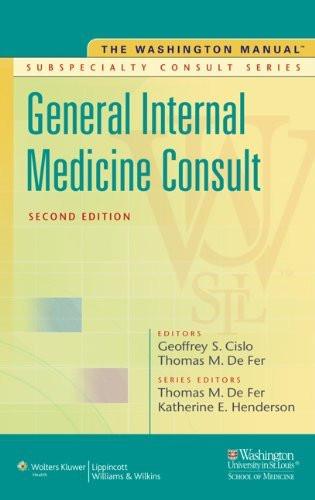 Washington Manual General Internal Medicine Consult