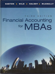 Financial Accounting for MBAs  by Peter D. Easton