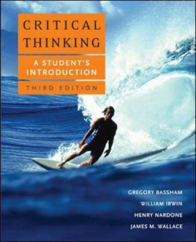 critical thinking 5th edition bassham