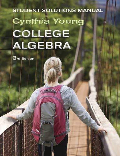 College Algebra Solutions Manual