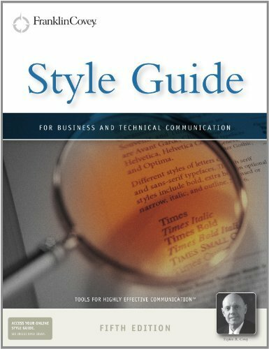Style Guide For Business And Technical Communication