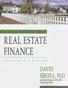 Essentials Of Real Estate Finance
