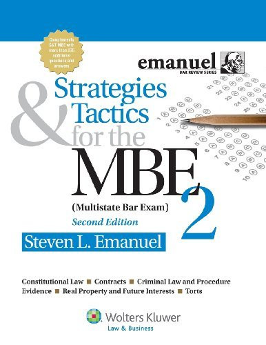 Strategies And Tactics For The Mbe 2