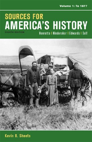Sources For America's History Volume 1