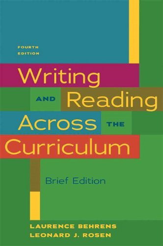 Writing And Reading Across The Curriculum Brief