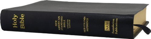 Nasb Side-Column Reference Wide Margin Bible; Black Genuine Leather